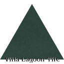 """Dark Teal"" Troika Triangle Cement Tile"