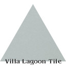 """Arctic Gray"" Troika Triangle Cement Tile"