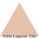 """Smoky Coral"" Troika Triangle Cement Tile"