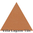 """Smoked Pumpkin"" Troika Triangle Cement Tile"