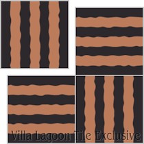 """Haley Street Stripes"" Custom Jeff Shelton Cement Tile, from Villa Lagoon Tile."