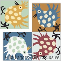 """Hen"" Custom Jeff Shelton Cement Tile, from Villa Lagoon Tile."