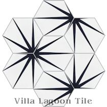 """Alley Black and White Morning"" Hex Cement Tile"