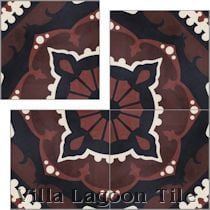 """Amalena Burgundy"" Cement Tile"