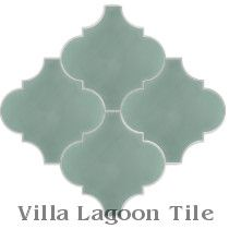Arabesque Classic, Pale Jade Cement Tile