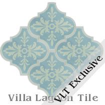 """Porto Patina"" Arabesque Cement Tile"