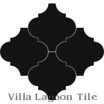 Arabesque Classic, Black Cement Tile
