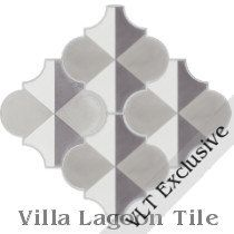 "Arabesque Classic ""Terrace Shadow"" Cement Tile"