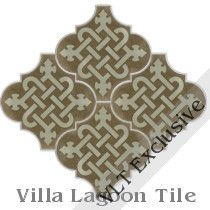 """Arabesque Classic Knot"" Cement Tile"