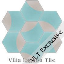 Archie Hex Cement Tile, from Villa Lagoon Tile