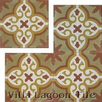 """Bocassio Gold"" Cement Tile"