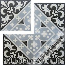 """Canterbury Three"" Cement Tile"