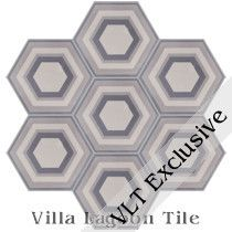 Concentric Hex Cement Tile, from Villa Lagoon Tile