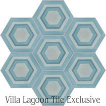 """Concentric Hex D"" Cement Tile"