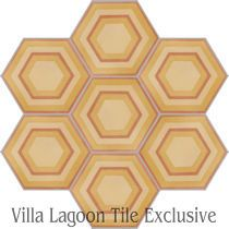 """Concentric Hex G"" Cement Tile"