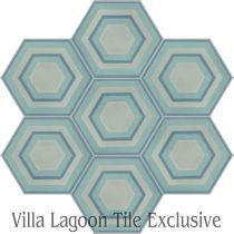 """Concentric Hex K"" Cement Tile"