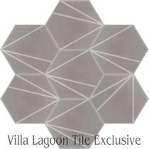Crow's Feet Cement Tile, from Villa Lagoon Tile