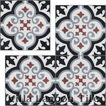 """Fiore Winter"" Cement Tile"