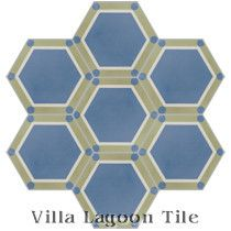 Hex Deco Cement Tile, from Villa Lagoon Tile
