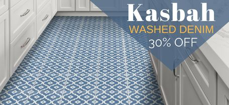 """Kasbah Washed Denim"" Cement Tile"