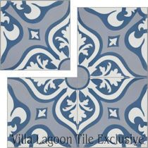 """Lancelot Blue"" Cement Tile"