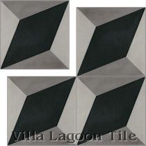 """Large Cubes"" Cement Tile"