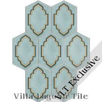 """Long Hex Farah"" Cement Tile"