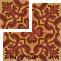 """Madeira Hearts Ablaze"" Cement Tile"