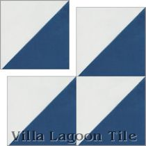"""Man Overboard, Deep Inlet & White"" 4-inch Cement Tile"