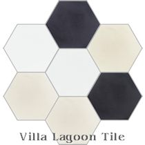 """Mixed Calico Hex"" Cement Tile"