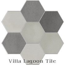 """Mixed Gray Hex"" Cement Tile"