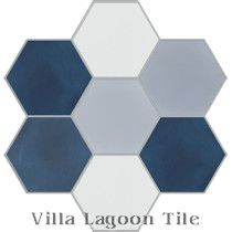"""Mixed Ocean Breeze Hex"" Cement Tile"