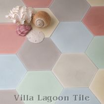 """Mixed Pastel Hex"" Cement Tile"