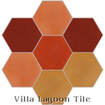 """Mixed Sunset Hex"" Cement Tile"