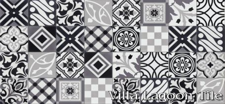 "Patchwork ""Elegance"" Cement Tile"