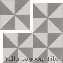 """Pinwheel Grande A, Featherstone & White"" 4-inch Cement Tile"