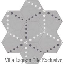 """Radar Love"" Hex Cement Tile"