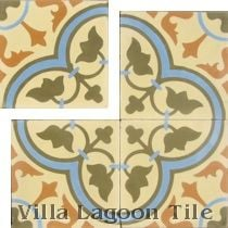 """Tulips Summer"" Cement Tile"