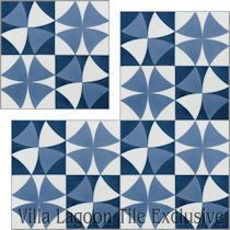 """Rotunda Blue"" Cement Tile"