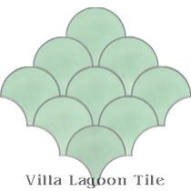 """Fishscale Mint To Be"" Cement Tile"