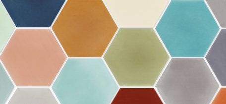 In Stock Solid Hex Cement Tiles