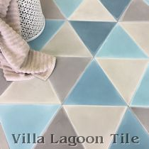 """Fishscale Frosted Teal"" Cement Tile"