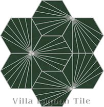 """Spark C Summer"" Hex Cement Tile"