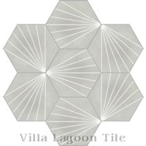 """Spark C Winter"" Hex Cement Tile"