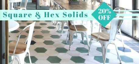 In Stock Solid Square Cement Tiles