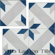 """Star Lattice Nautique"" Cement Tile"