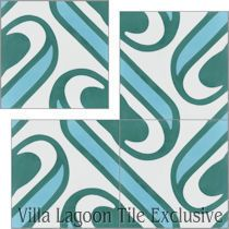 """Surf Aqua"" Cement Tile"