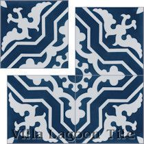 """Talia Deep Inlet"" Cement Tile"