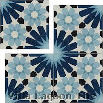 """Tangier Blues"" Cement Tile"