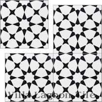 """Taza Black and White Morning"" Cement Tile"